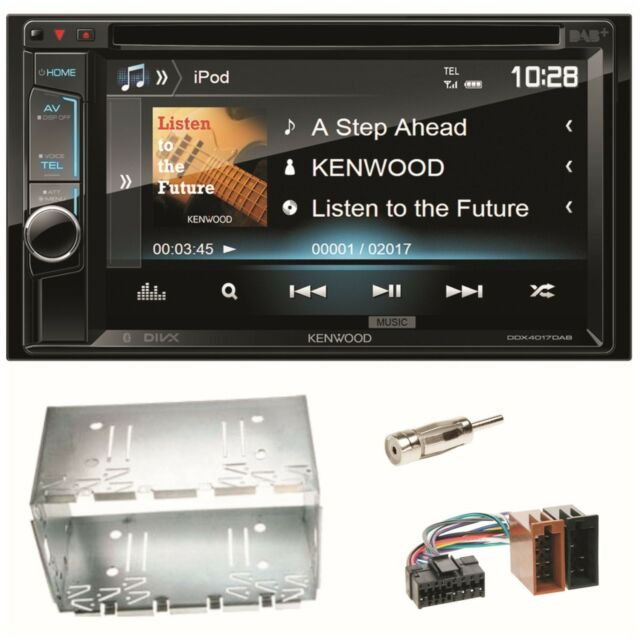 Kenwood DDX-4017DAB Bluetooth DAB+ USB CD MP3 Einbauset für Sprinter Vito Viano