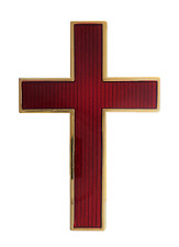 Cross Gilded Red Enamel Large Symbol For Royal Black Collarette