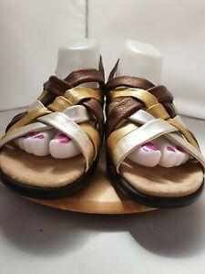 Suze-uk-5-Hotter-039-Softy-039-Metalic-Gold-Bronze-Sandals
