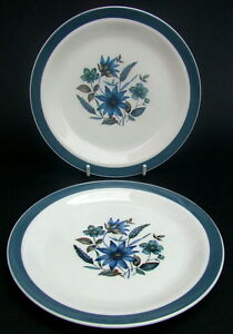 Details about TWO 1950's Alfred Meakin Country Side Pattern 2 x Side or  Bread Plates 18cm VGC