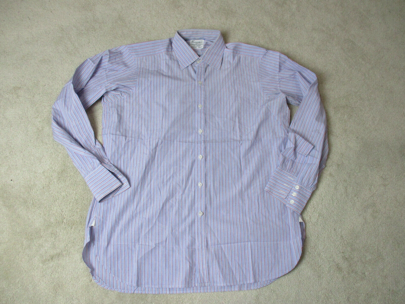 Turnbull & Asser Button Up Shirt Adult Large 16 1 2 Red bluee Office Casual Mens