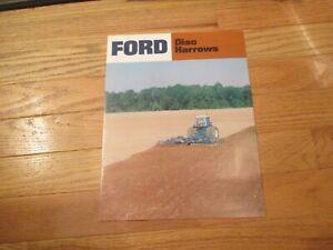 Ford Disc Harrows Vintage Dealer sales brochure