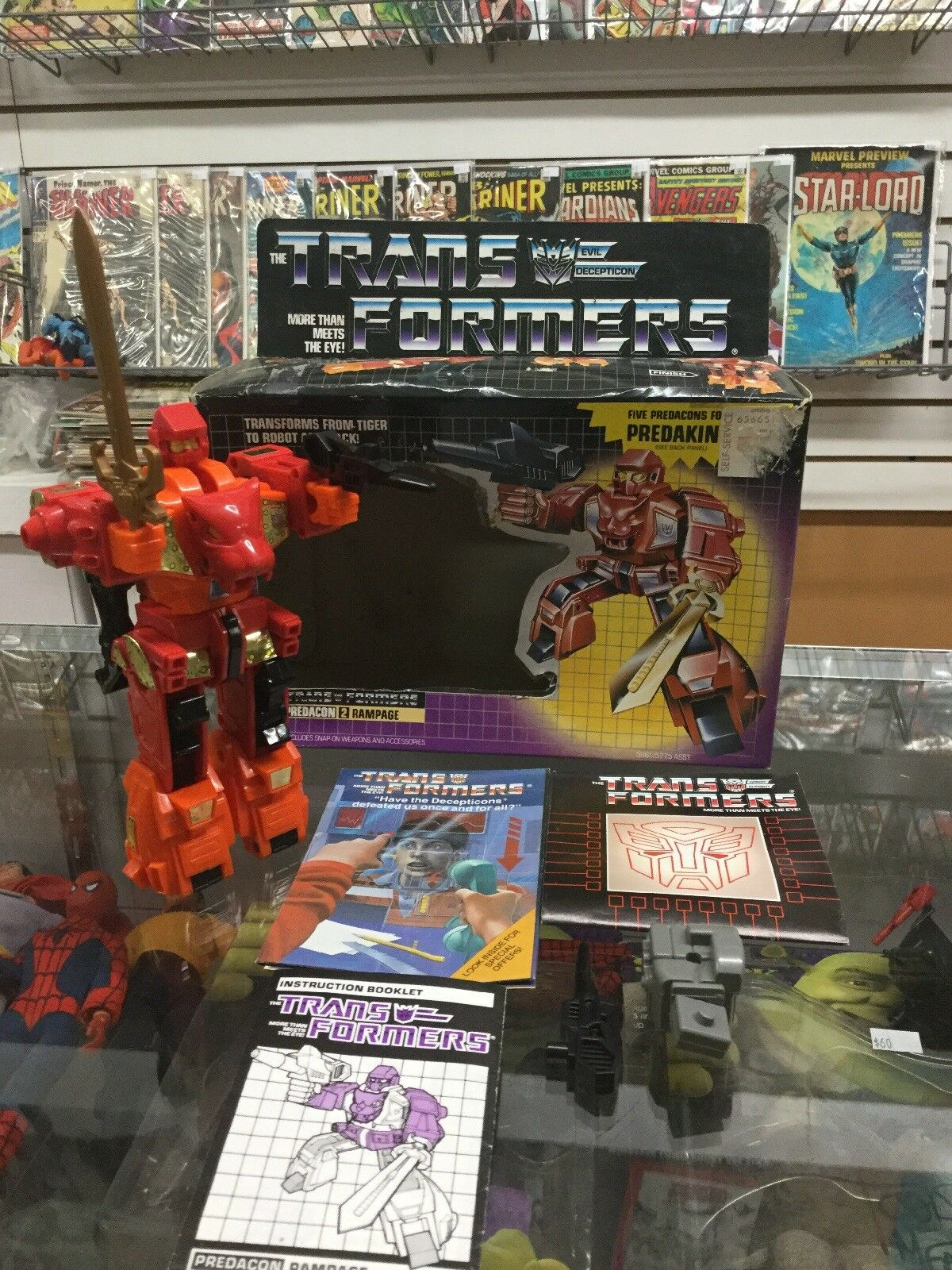 Transformers Original G1 1986 Predacon Rampage Complete w    Box 119749