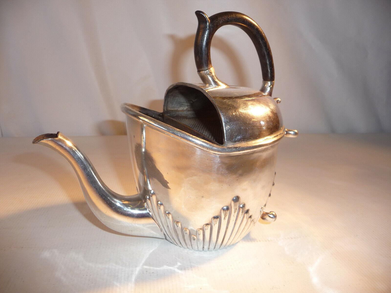 Verseuse en métal Silberé anglais anglais anglais style Empire Prise en bois schwarzci 04226f