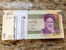 1 X 50,000 (50000) Rials Banknotes Persian Iran paper money Uncirculate KHOMEINI