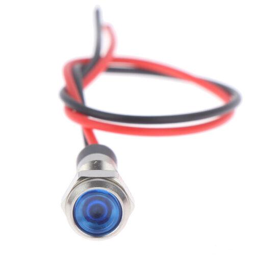 P67 Waterproof 6mm LED Metal Warning Indicator Light 3V 5V 6V 12V 24V 22jbT/_shZD