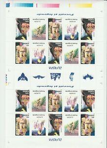 s37430 ROMANIA 1997 EUROPA CEPT MNH** MS LEGENDE FULL SHEET