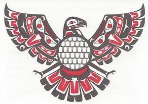 0020612bf TRIBAL EAGLE RED & BLACK 2288 Temporary Tattoo NATIVE AMERICAN | eBay
