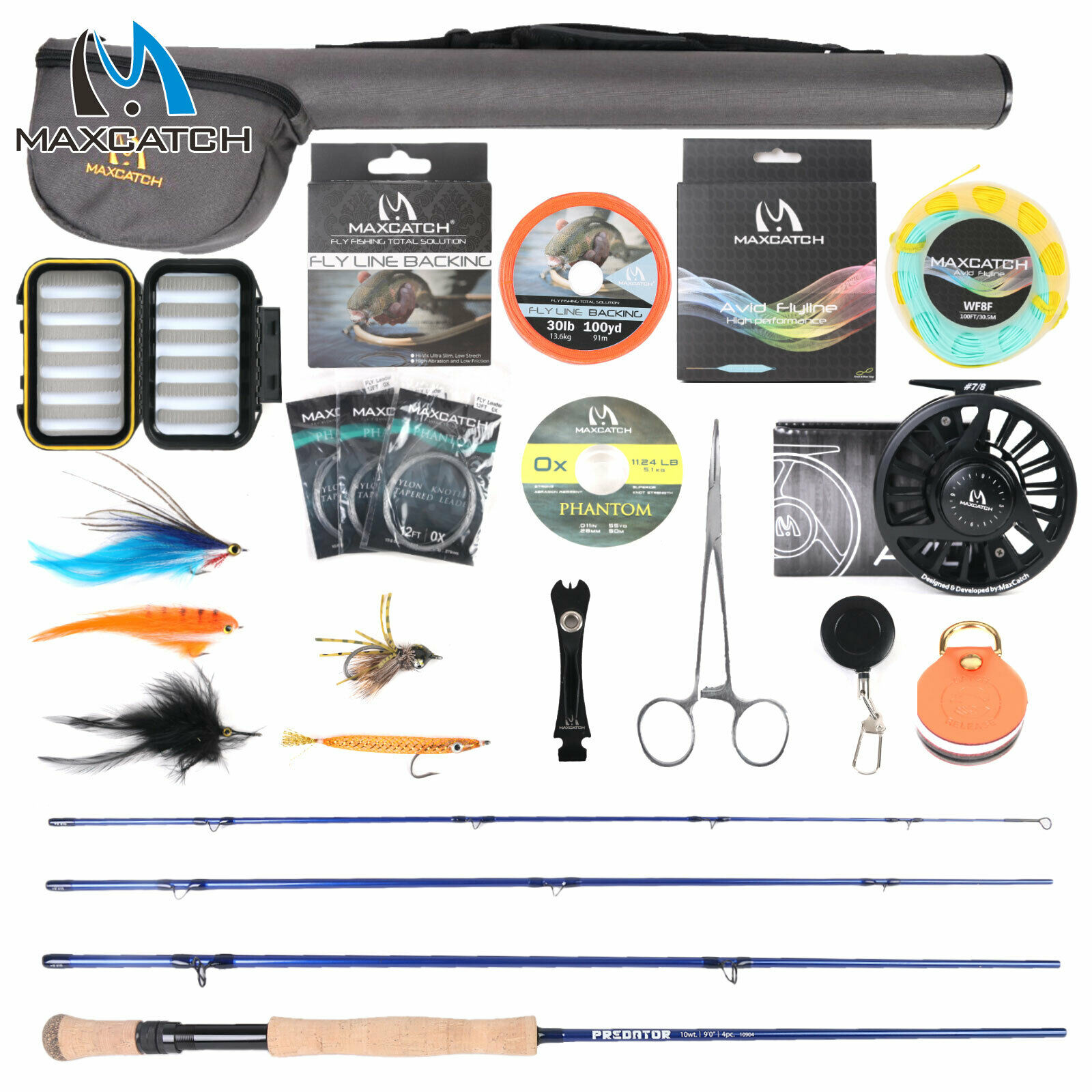 Saltwater Fly Rod and Reel Combo Full Kit 9FT Fly Fishing Complete Outfit