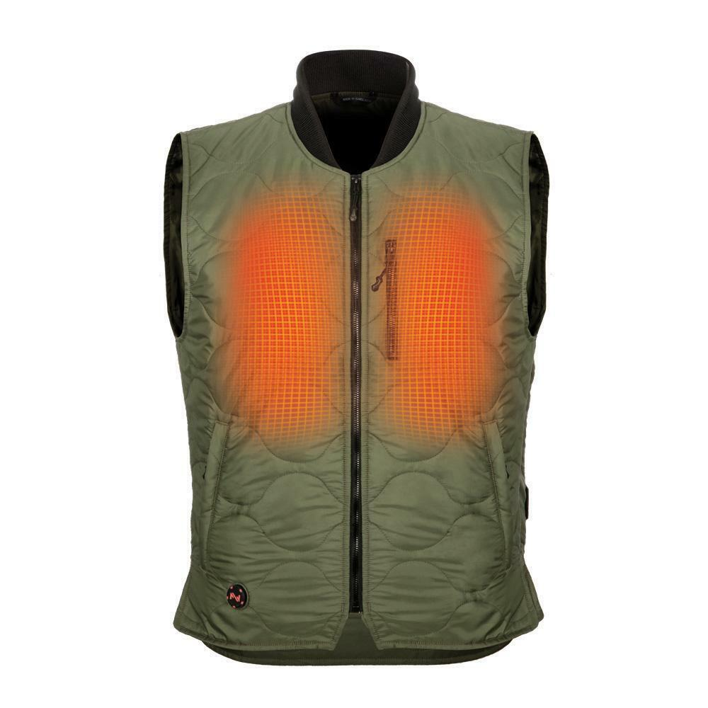 MOBILE WARMING MEN'S COMPANY HEATED VEST WITH 7.4V BATTERY