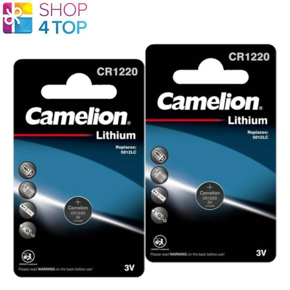 2 Camelion CR1220 Batteries Lithium 3V Coin Cell DL1220 ECR1220 1BL Exp 2031 New