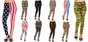 b378069a110aa Image is loading Lot-Sublimation -Graphic-Printed-Thin-Tight-Fashion-Leggings-
