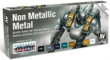 Vallejo Non-Metallic Metal Paint Set Color 8 Bottles NEW Miniature Wargame 72212