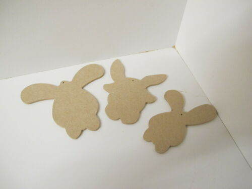 SET OF 3 with holes. Easter Bunny Head Shapes