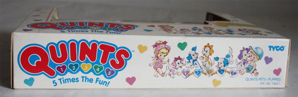 VERY RARE VINTAGE 1990 1990 1990 TYCO QUINTS 5 LITTLE PUPPIES PETS NEW SEALED e880e2