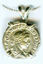 """AD223 Silver Roman Denari Coin Emperor Severus Alexander Goddess of Peace """"Pax"""""""