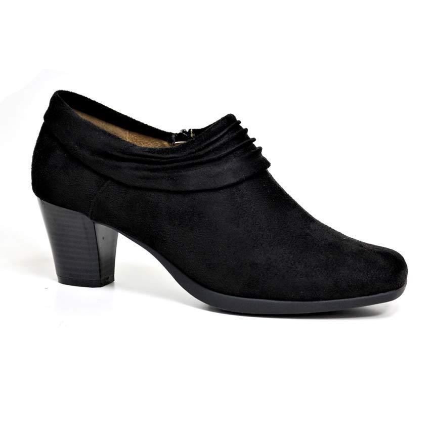 Womens Ladies Block Heel Court Trouser Formal Work Chelsea Comfort Office Shoes