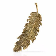 Bronze Women Leaf Feather Hair Clip Hairpin Barrette Bobby Pins Hair Accessories