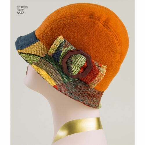 Simplicity Misses Flapper Hats In Three Sizes-S-M-L
