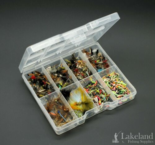 Assorted Mixture of Trout Flies Fly Fishing T1 Starter Kit Tackle Fly Box