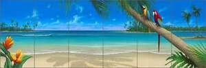 Tile-Mural-Backsplash-Ceramic-Miller-Parrots-Tropical-Beach-Seascape-Art-DMA2014