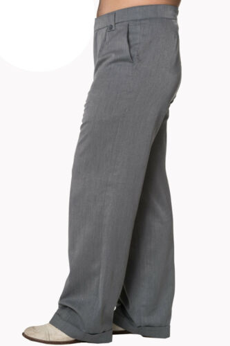 1940s UK and Europe Men's Clothing – WW2, Swing Dance, Goodwin    Mens Classic Vintage style WW2 Wartime 1930s 1940s Grey Trousers  £34.99 AT vintagedancer.com
