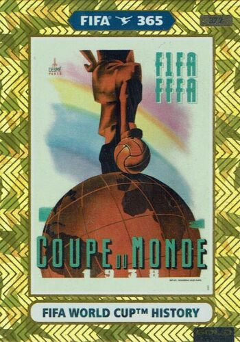 PANINI ADRENALYN XL FIFA 365 2021 fifa world cup History Nº 372 1938 FRANCE
