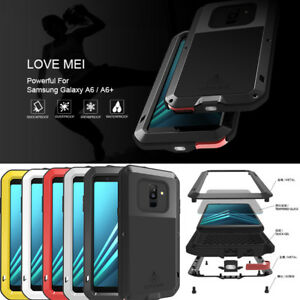 various colors c37eb adf8e Details about For Samsung Galaxy A6 Plus Note 9 LOVE MEI Shock Water Proof  Aluminum Metal Case