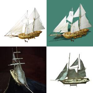 Details Zu 2 Pcs 130 Diy Holz 3d Schiff Segelboot Modellbausatz Kinder Basteln Spielzeug