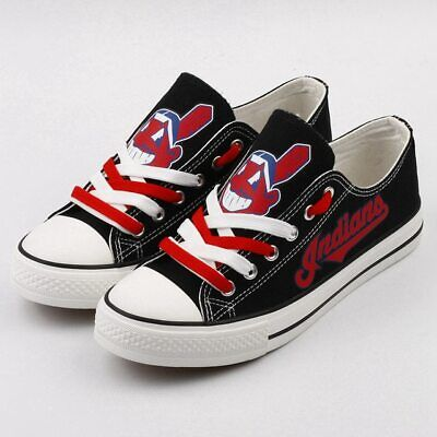 aec7ce8e CLEVELAND INDIANS Men's Women's Kids Sneakers Shoes Baseball Glow in the  Dark   eBay
