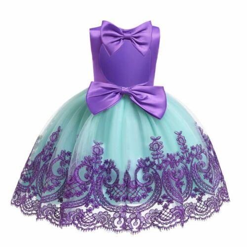 Bridesmaid Baby Wedding Dresses Girl Formal Party Kid Flower Princess Tutu Dress