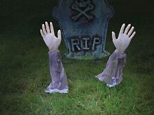 BRACCIO DI ZOMBIE Prato Pali Halloween Giardino Decorazione Morti Cimitero Tomba Bara