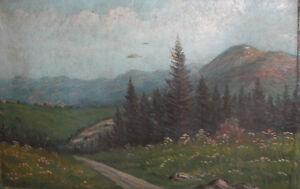 European antique impressionist oil painting landscape