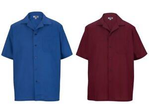 Edwards-Men-039-s-Chest-Pocket-Short-Sleeve-Camp-Shirt-S-2XL-1029
