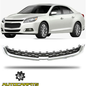 Fits 2014-2015 Chevrolet Malibu Front Upper Radiator Grille Chrome and Black