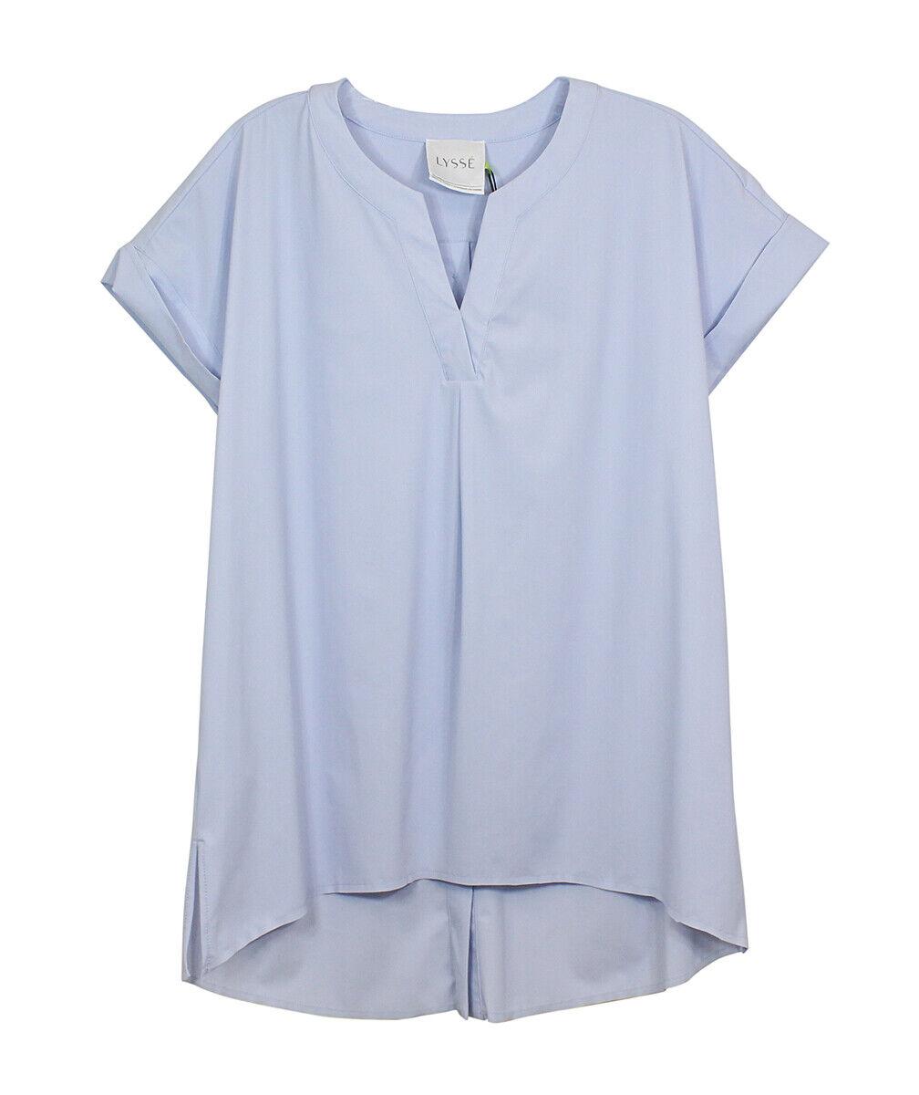 Lysse Cloud Blau V Neck Alessia Popover Blouse Tee Shirt Apparel S New