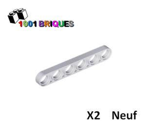 Liftarm 1 x 6 Thin Light Bluish Grey Lego 32063 x2 Technic