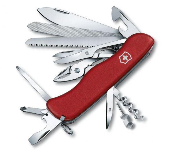 Victorinox 0.9064 WorkChamp Taschenmesser Messer mit 21 Funktionen Edelstahl