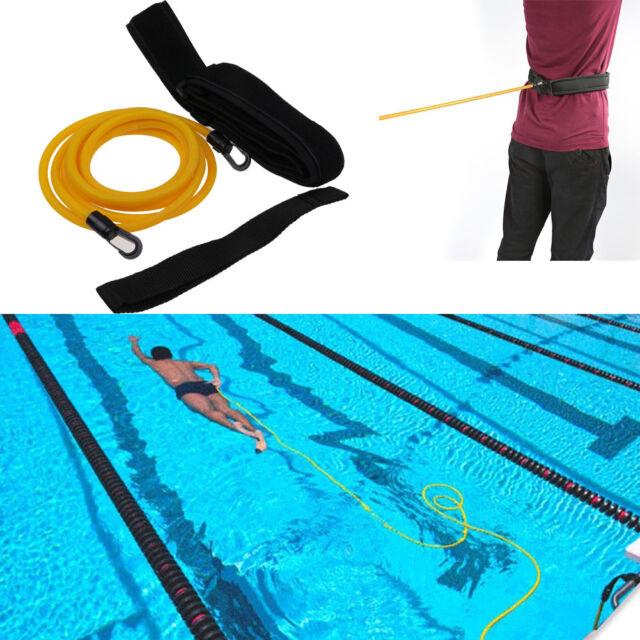 Swim Bungee Training Belt Swim Resistance Leash Exerciser Belt Strap  Tether Hot
