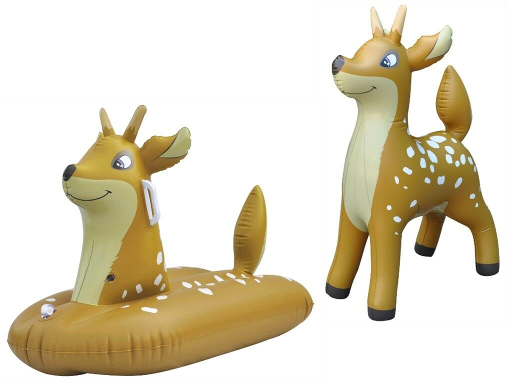Inflatable Deer Snow Water Sled Sleigh Tube Boat kids toddlers & Deer Animal Toy