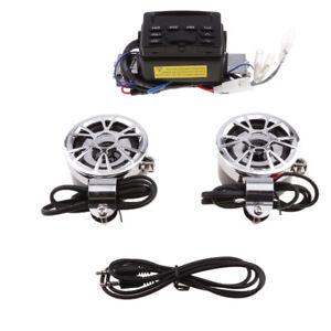 Bluetooth-Waterproof-Motorcycle-ATV-UTV-Bike-Audio-FM-MP3-Radio-Sound-System