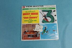 VINTAGE VIEW-MASTER 3D REEL PACKET B551 MICKEY MOUSE CLOCK CLEANERS SEALED