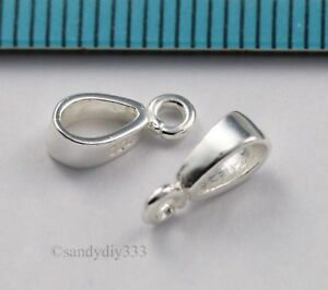2x-BRIGHT-STERLING-SILVER-PENDANT-BAIL-SLIDE-CONNECTOR-for-2-5mm-cord-J121