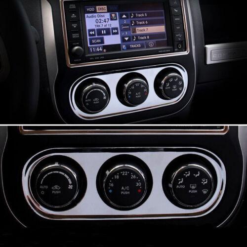 Chrome Car Air Condition Adjust Switch Cover Frame Trim for Jeep COMPASS 11-2016