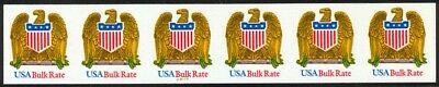 Reliable 2603a Bulk Rate Eagle Imperf Rare #22221 Vf/nh Strip Of 6 To Make One Feel At Ease And Energetic Stamps