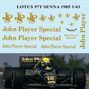 1/43 Lotus 97t Ayrton Senna Sponsor 1985 Decals Tb Decal Tbd61 Pour Assurer Des AnnéEs De Service Sans ProblèMe