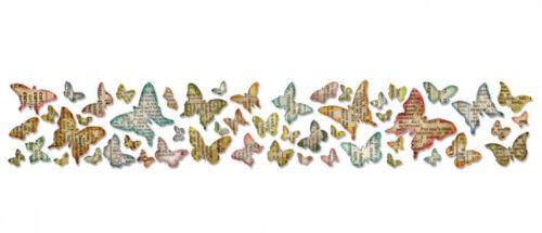 Sizzix Mariposa frenesí alteraciones Tim Holtz tira larga Die Mariposas 659575
