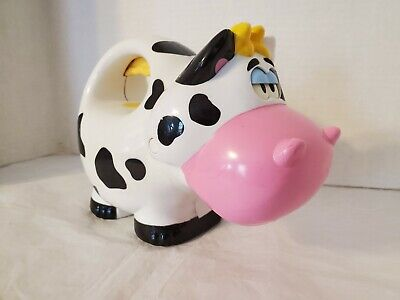 FISHER PRICE COW FLASHLIGHT TOY 2006 LIGHTS AND SOUNDS WORK Night Light