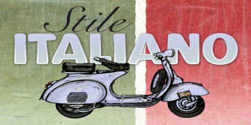 VESPA SCOOTER  SIGN RETRO SHABBY CHIC  VINTAGE STYLE