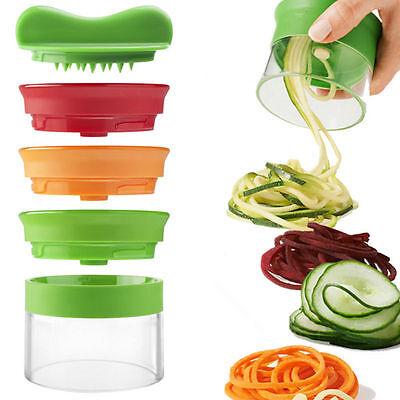 3-in-1 Handheld Spiralizer Noodle Zucchini Spaghetti Pasta Vegetable Slicer Tool